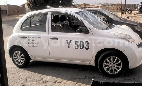 Buy Used Nissan March White Car in Windhoek in Namibia