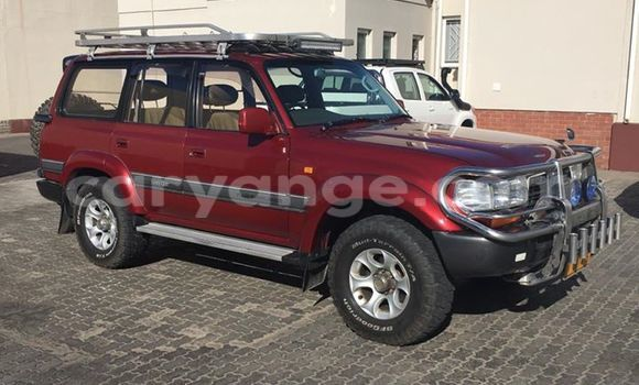 Buy Used Toyota Land Cruiser Red Car in Windhoek in Namibia