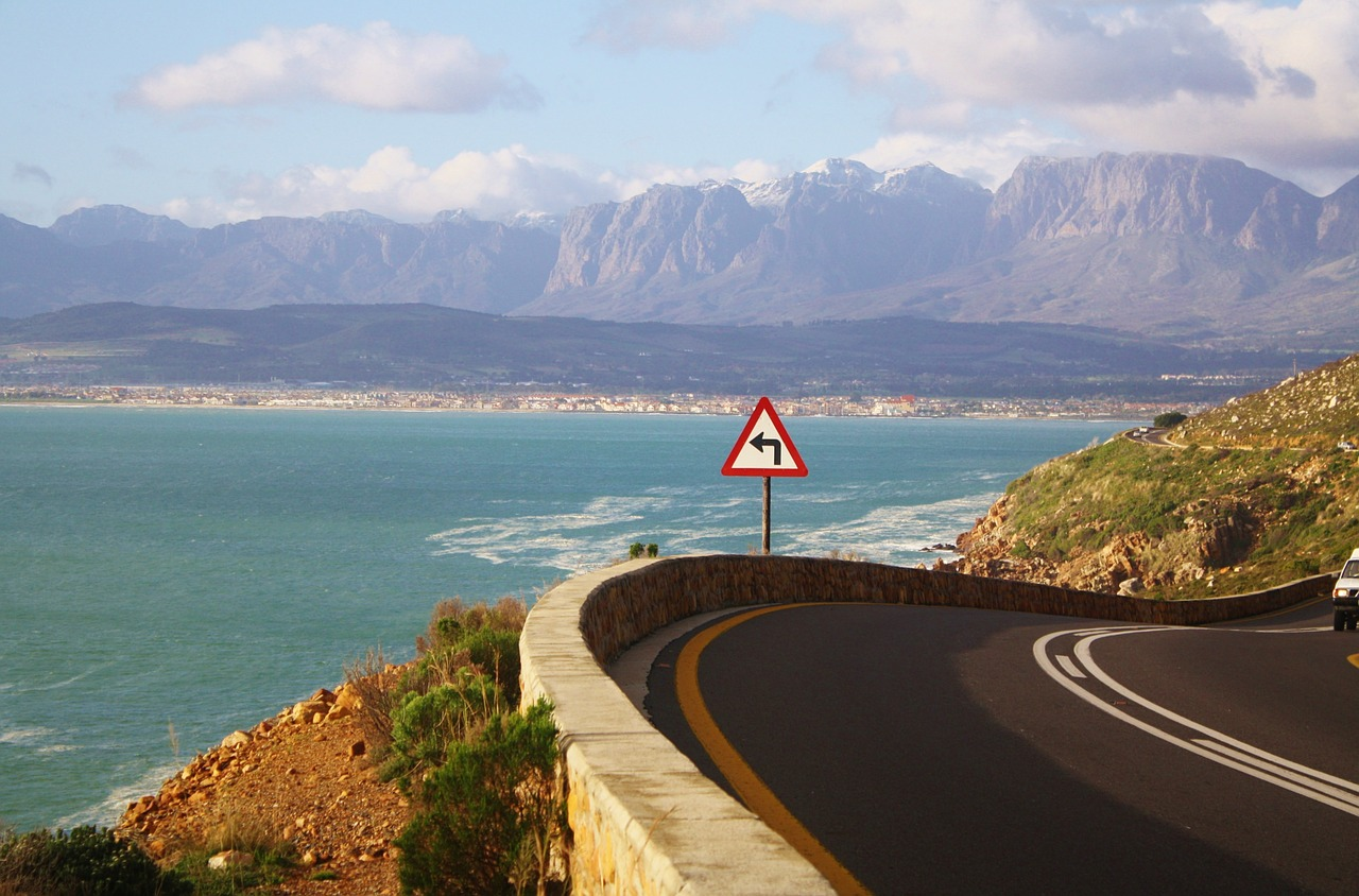 Cape town coastal road sea south africa ocean 574007