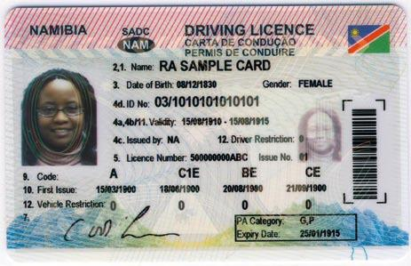 Namibia driving licence
